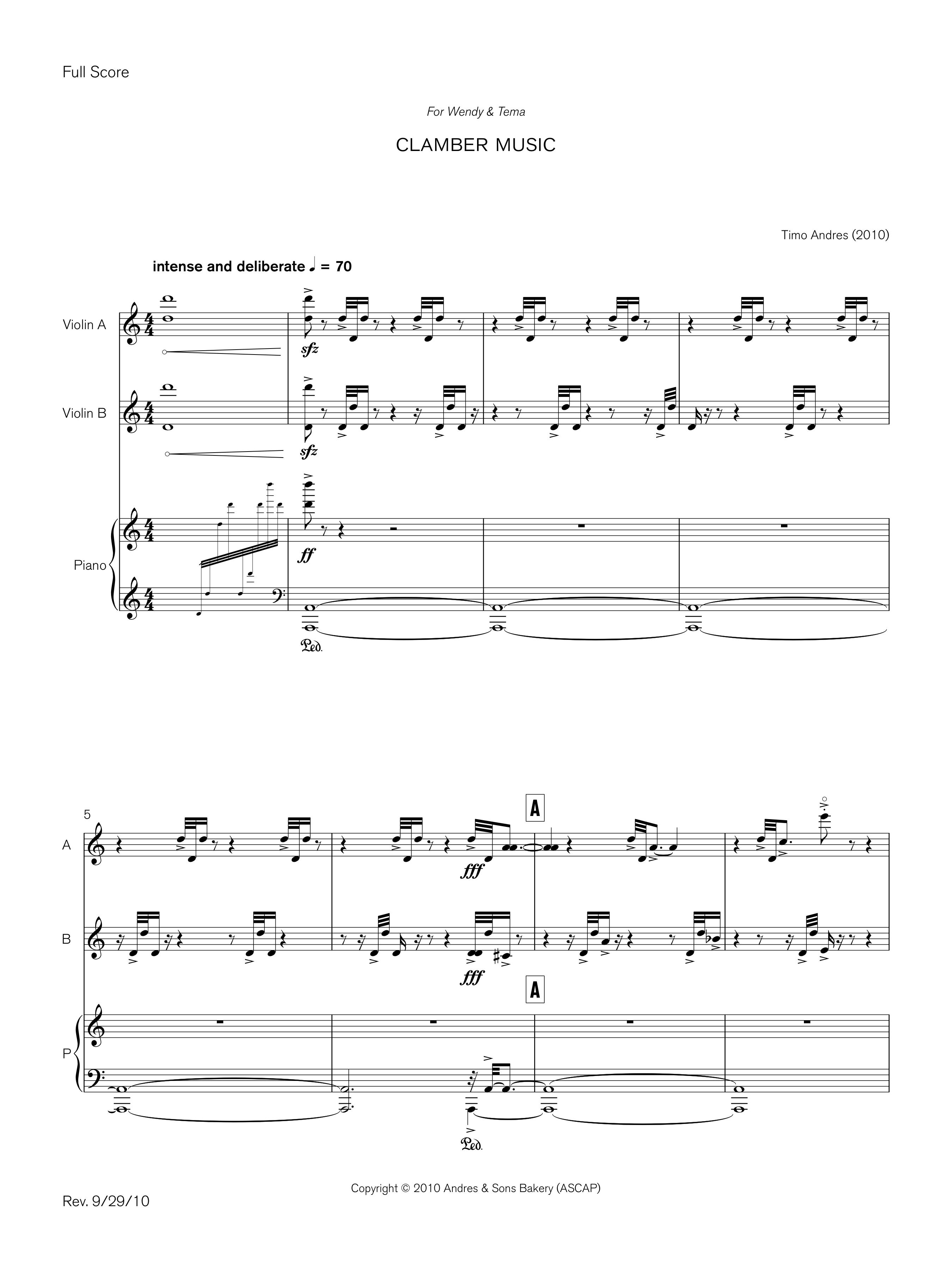 Clamber Music, p. 1