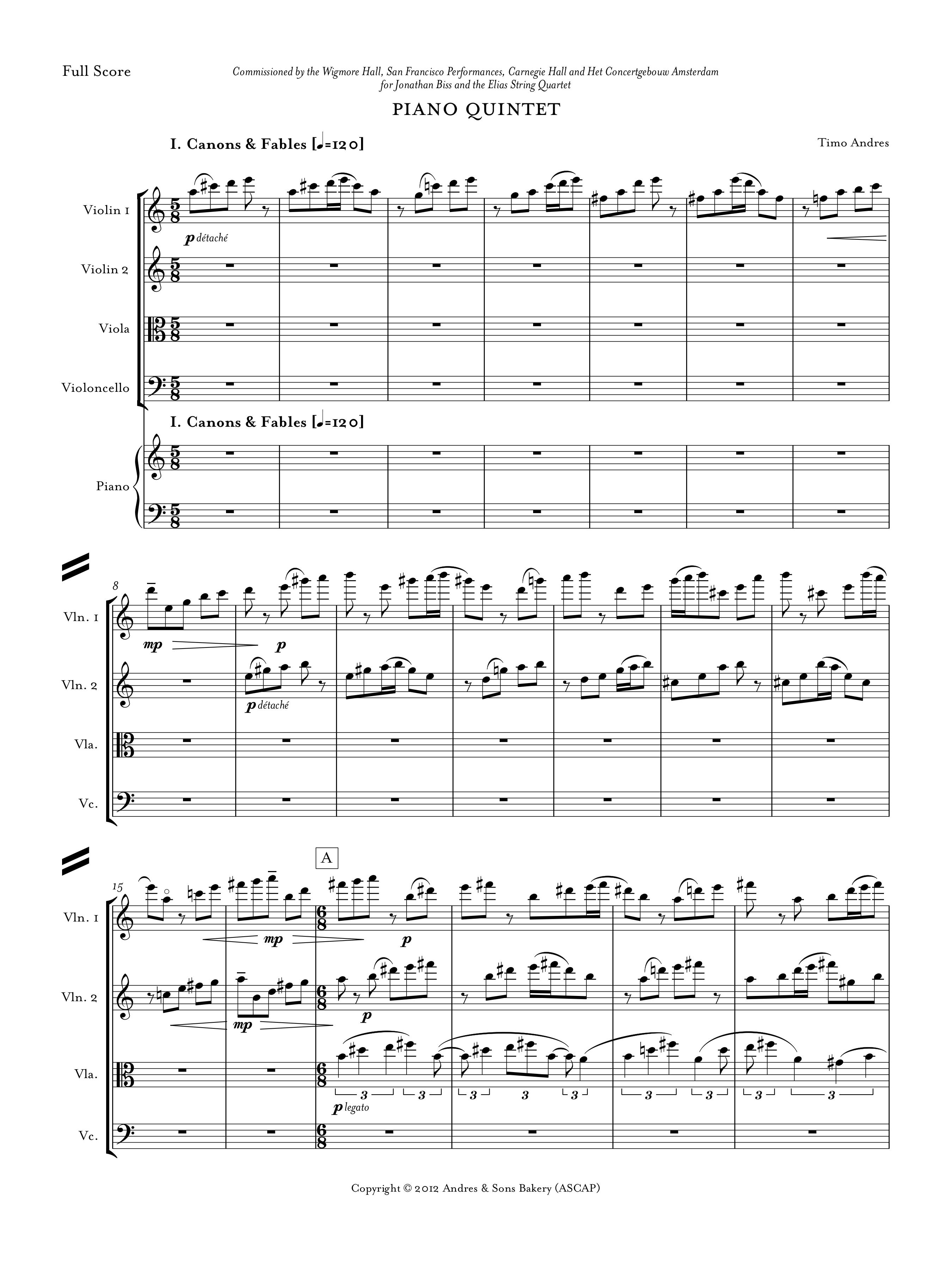 Piano Quintet, p. 1