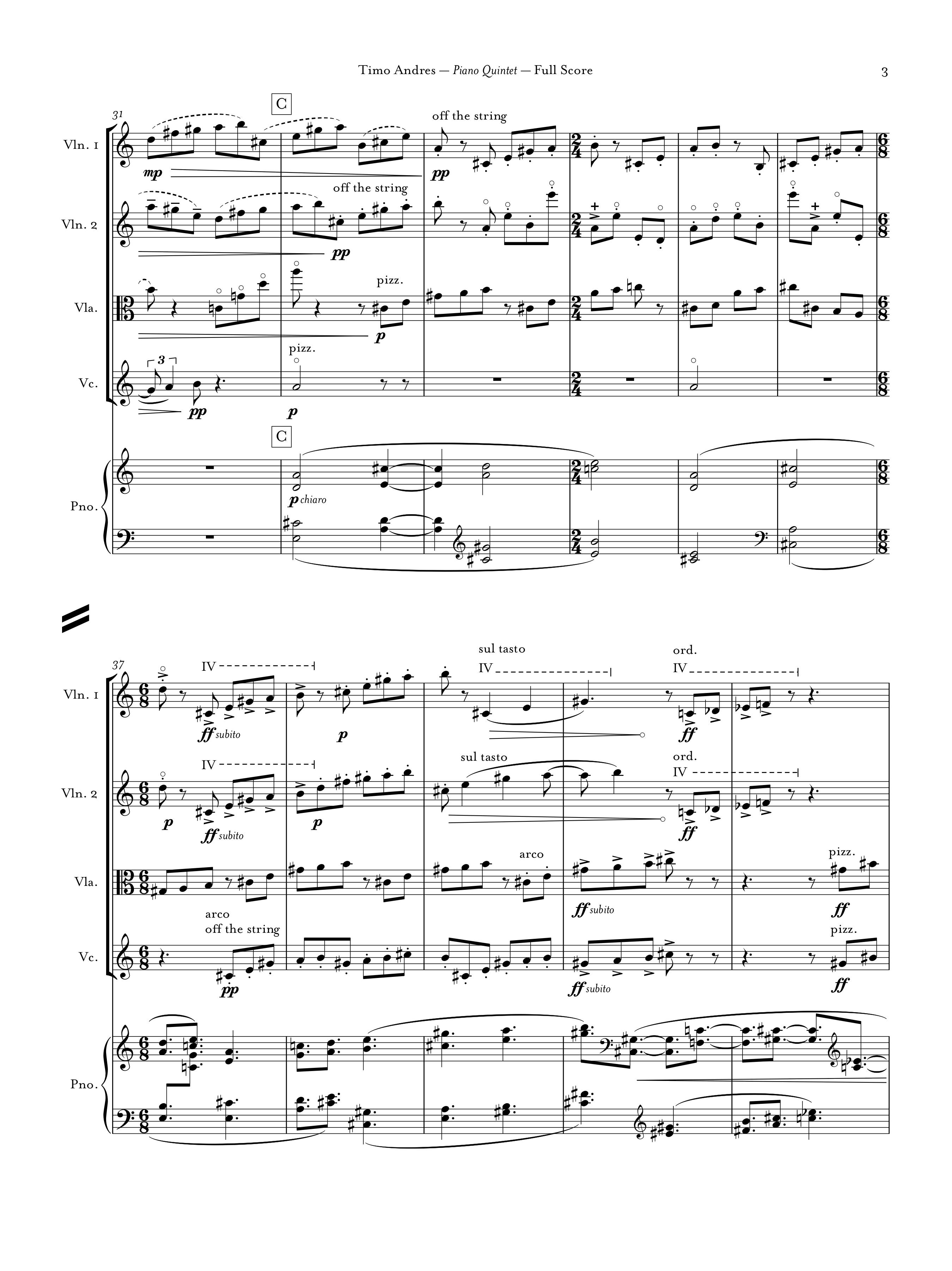 Piano Quintet, p. 3