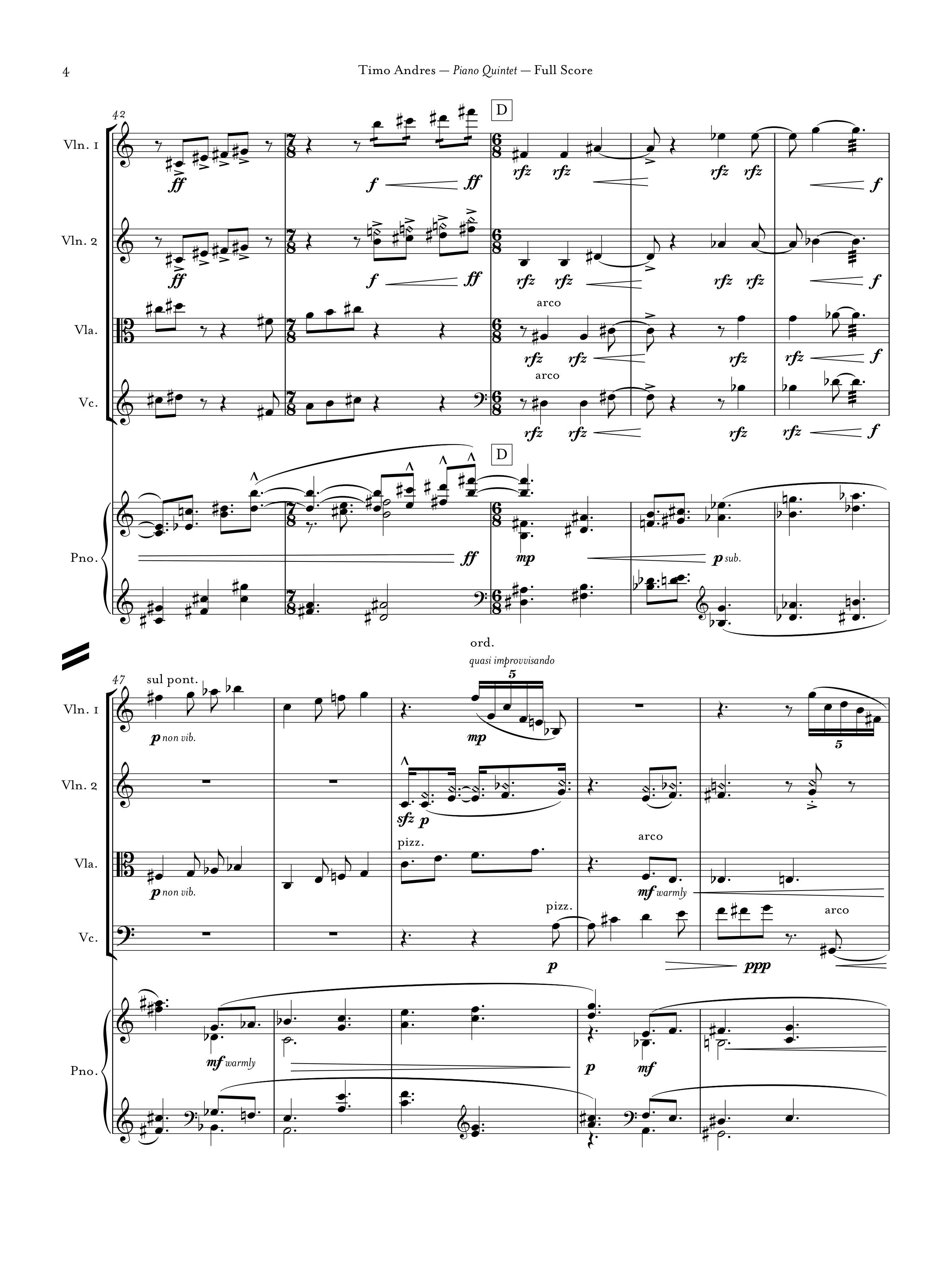 Piano Quintet, p. 4