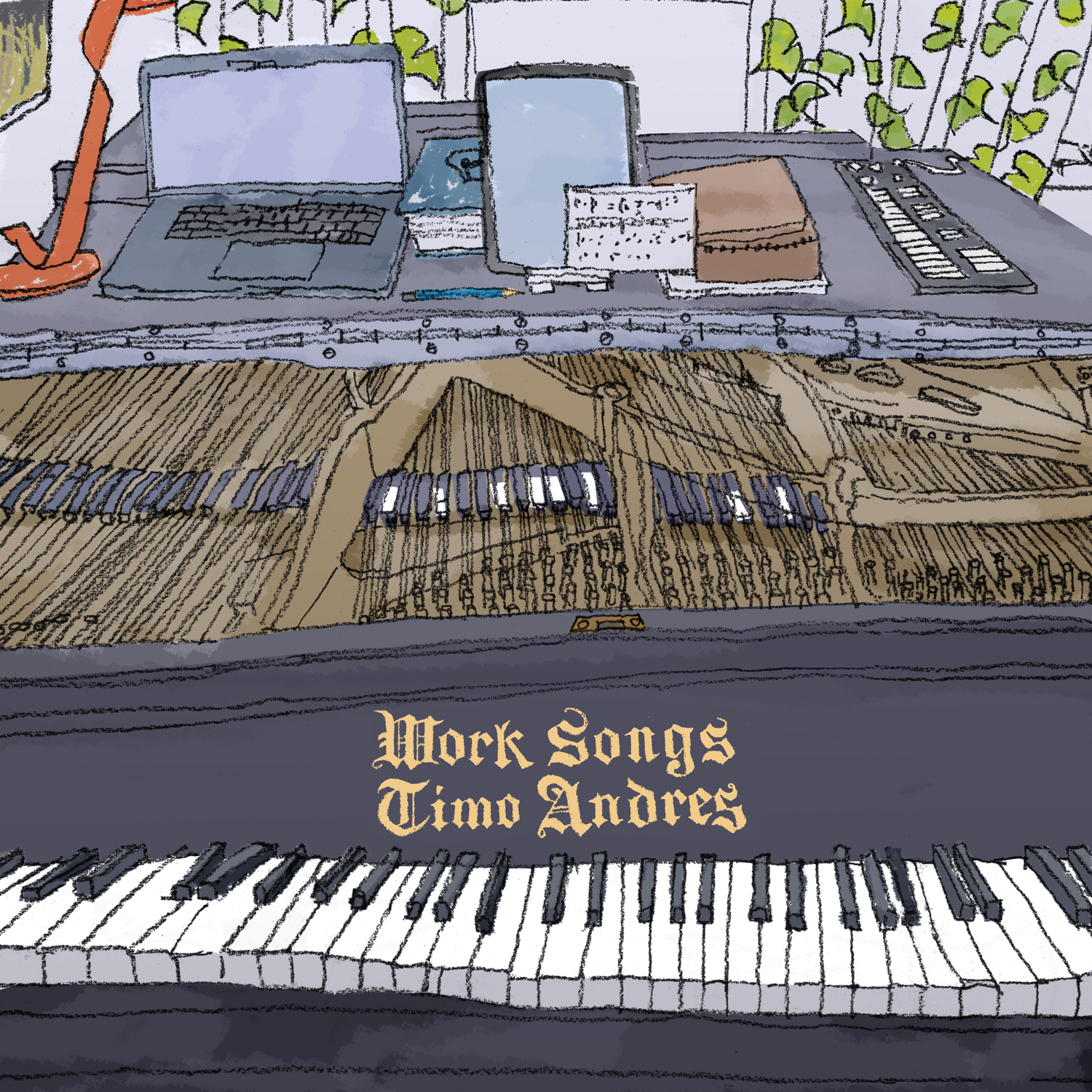 Work Songs album cover. Artwork by Harley Jessup