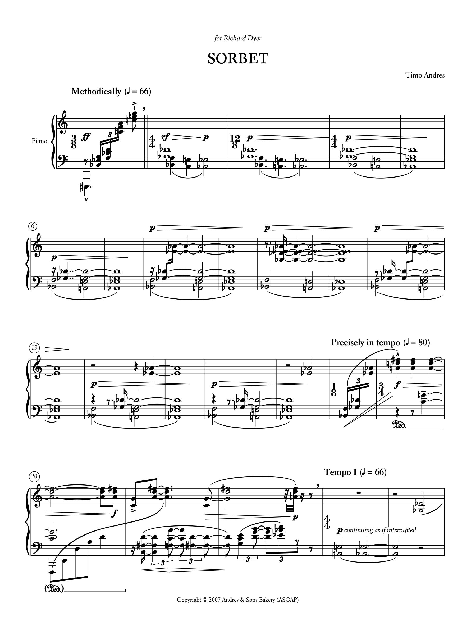 Sorbet, p. 1