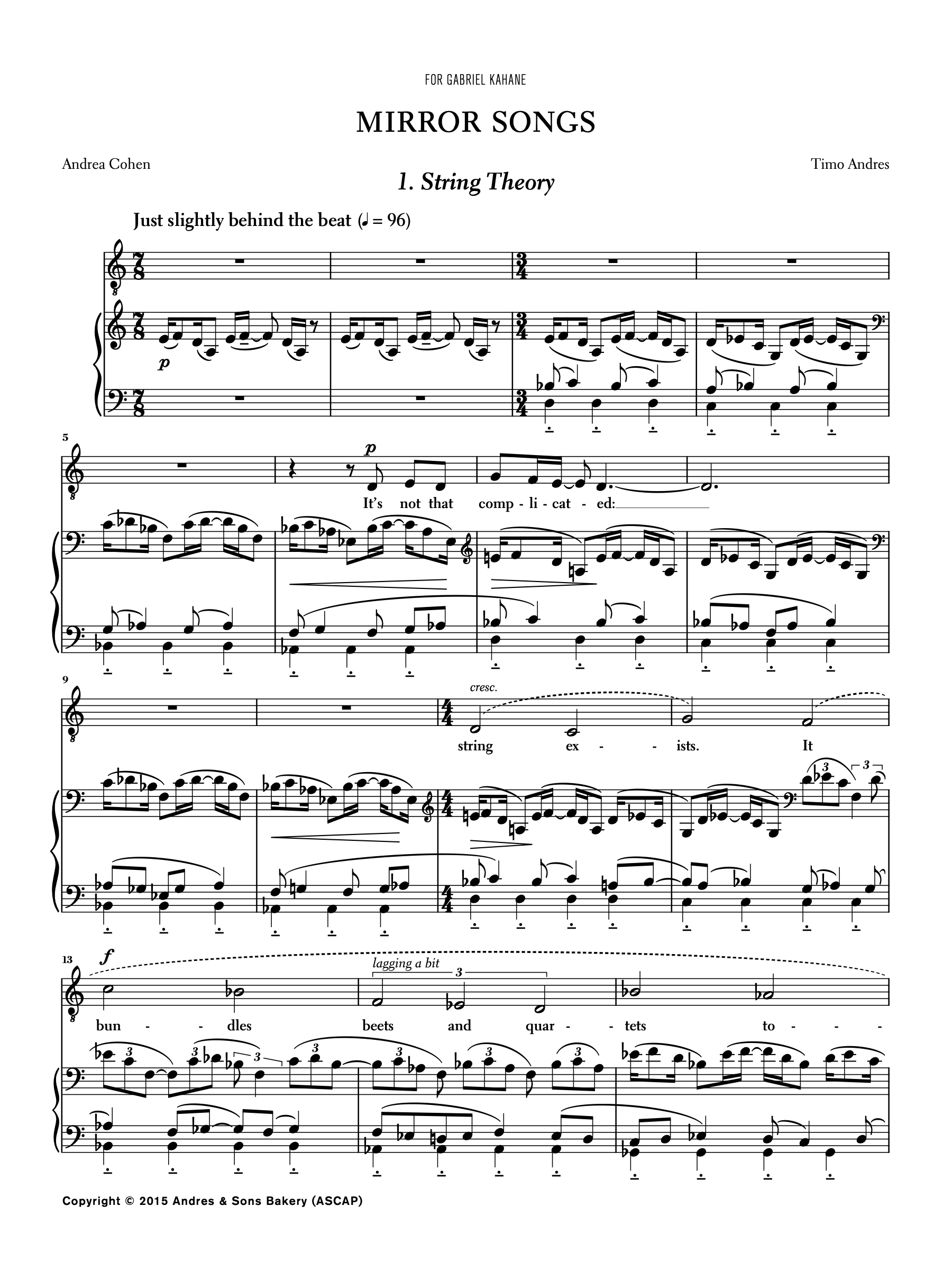 Mirror Songs, p. 1